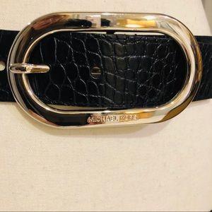 Michael Kors Genuine Black Leather Belt